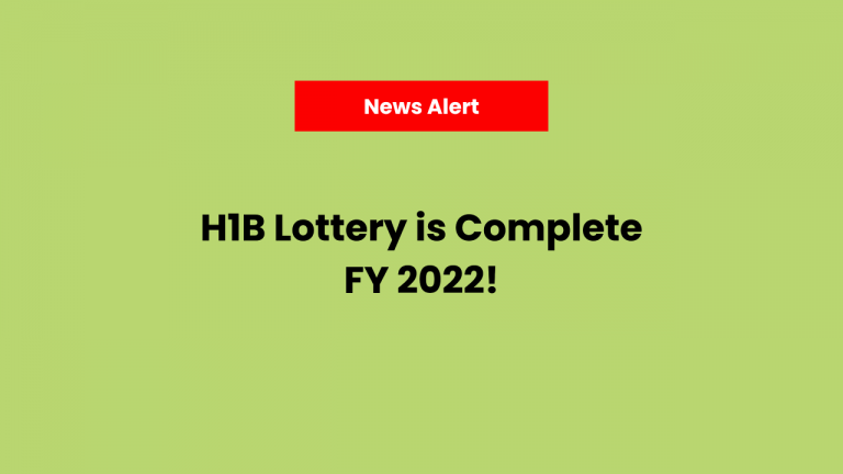 H1B Visa FY 2022 Lottery is Complete. Here's the Registration Selection Confirmation